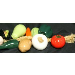 Large Ristra String of Ceramic Vegetables with 10